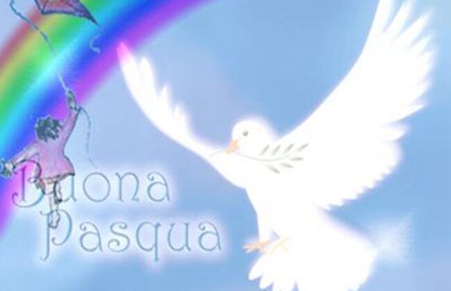 Favoloso La colomba della pace: un periodo di festa, Buona Pasqua FJ48